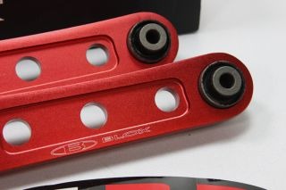 Blox Rear Red LCA 89 95 Civic CRX 90 01 Integra Lower Control Arms EG