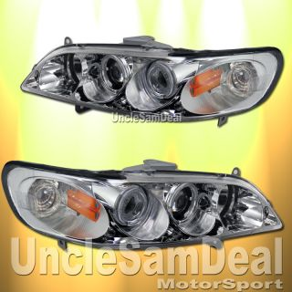 Honda Accord Dual Halo Rims Projector Chrome Headlights