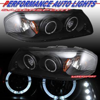 00 05 Chevy Impala Black Halo Projector Headlights LED