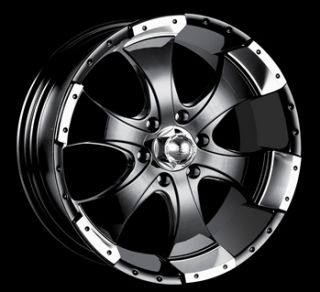 20x9 Black Alloy Ion Style 136 Wheels 5x5.5 +15 CHRYSLER ASPEN FORD F