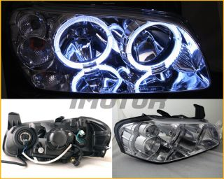 02 03 Nissan Maxima Crystal Angel Eye Twin Dual Halo Headlights Head