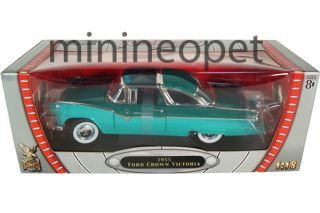 Yat Ming 1955 55 Ford Fairlane Crown Victoria 1 18 Diecast Green