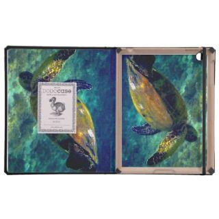 Hawaiian Aloha Honu Sea turtle iPad Cases