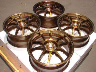 Bronze Wheels Integra Focus Cooper Miata Scion XA XB 4 Lug Rims
