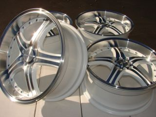White Effect Wheels Integra Elantra Prelude Civic CL 4 Lug Rims