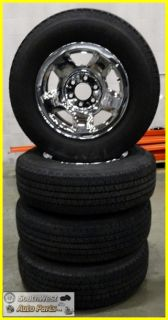 07 08 Ford F150 17 Chrome Clad Steel Wheels Tire 235 75 17 Set