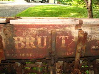 John Deere 6 foot wooden grain drill with wood wheels Antique Vintage