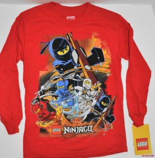 New Boys Lego Ninjago Ninja Long Sleeve T Shirt