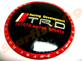 Red Rim JDM TRD Aluminum Wheel Center Emblem Celica MR2