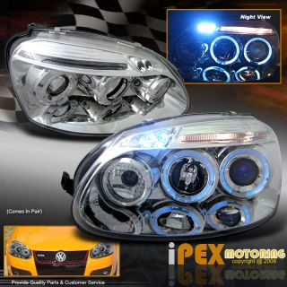 06 08 VW MK5 Jetta Golf Rabbit Halo LED Signal Projector Headlights