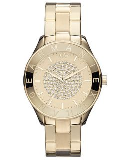 Armani Exchange Watch, Womens Yellow Gold Ion Plated Stainless