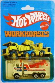 Hot Wheels Workhorses Rig Wrecker 3916 NRFP Mint 1981 White