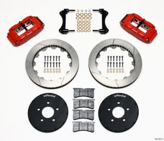 Wilwood Disc Brake Kit Front Rear 94 04 Mustang 13 Red Calipers