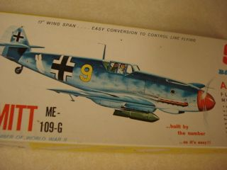 Sterling Messerschmitt Me 109 G Flying Model Airplane Kit