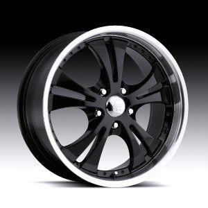 16 inch Vision Shockwave Black Wheels Rims 5x110 42