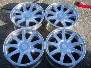 05 06 Chrysler 300C 18 9 Spoke Chrome Wheel Set OE LKQ