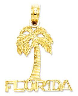 14k Gold Charm, Florida Palm Tree Charm   Bracelets   Jewelry