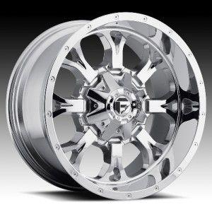 22 inch 22x11 Fuel Krank Chrome Wheel Rim 5x135 F150 Expedition