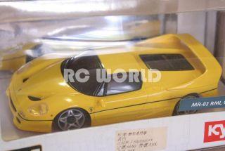 Kyosho Mini Z Ferrari F50 Yellow RC Car Ready Set