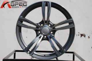 18x8 5 9 5 2012 BMW M5 Style Gun Metal Wheel Fit E90 E91 E92 325 328