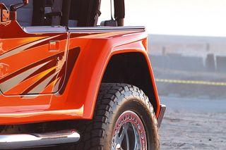 97 06 Jeep Wrangler Driver Side Fender Extension Wrangler Style Truck