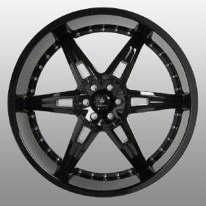 22 inch Verde Allusion Black Wheels Rims 5x115 300C Charger Magnum
