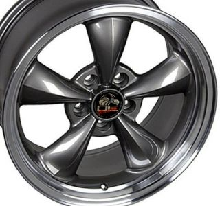 Single 17x9 Anthracite Bullitt Wheel Fits Mustang® 94 04