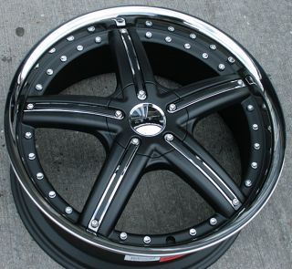 Zenetti Legacy 20 Black Rims Wheels s 10 Jimmy Rwd
