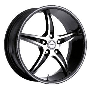 24 inch strada riga black wheels rims 5x115 +15 300c charger magnum