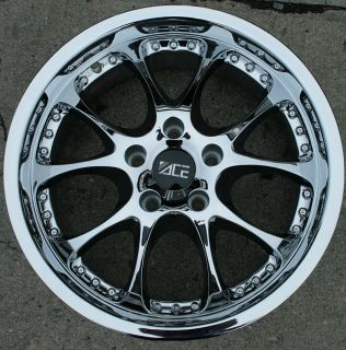 Ace Formula 18 Chrome Rims Wheels BMW 330 Convertible