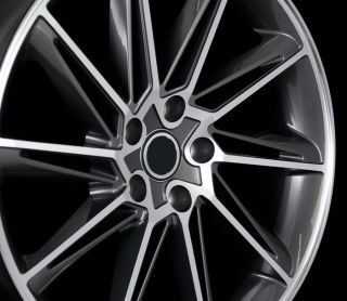 VW CC Style Gun Metal Machined Face Wheels Rims 45 Offset 5x112