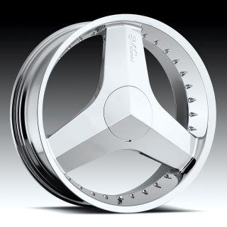 115 Chrome Blade Milanni Wheels Rims 5 Lug Cadillac Monte Carlo