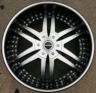 STRADA DENARO 122 22 BLACK RIMS WHEELS TACOMA TUNDRA 6H / 22 X 9.5 6H