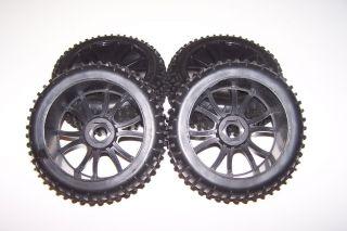 Hurricane XTR 1/8 Scale 4x4 Nitro Buggy 17mm Wheels Tires Rims Set