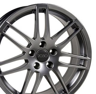 17 New RS4 Style Hyper Silver Wheels Set of 4 Rims Fit Audi A4 A6 A8