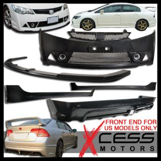 06 09 11 Honda Civic Mugen RR Body Kit Body Kit Front Lip