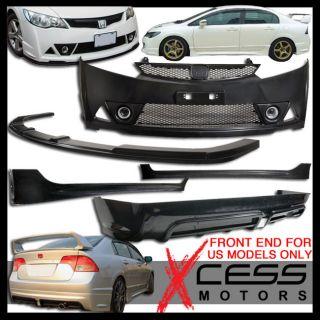 06 09 11 Honda Civic Mugen RR Body Kit Body Kit Front Lip