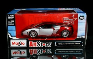 Lamborghini Gallardo LP 560 4 All Stars Diecast 1 24 Red Silver
