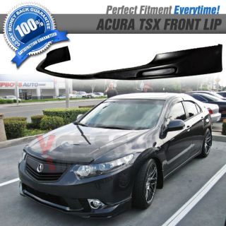 09 10 11 Acura TSX Poly Urethane Black Front Bumper Lip Spoiler
