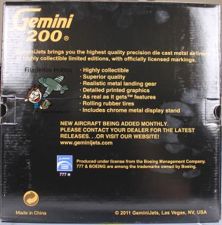 Gemini Jets G2UAL239 1200 Ltd. Ed. Boeing 777 200ER, United Airlines