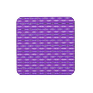 bright purple pattern drink coasters