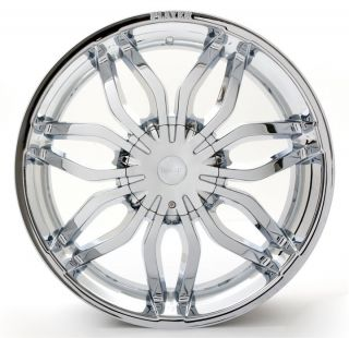 22 Player 777 Chrome Wheels Rims Tires 5x108 5x114 3