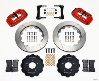 Wilwood Disc Brake Kit 2005 2011 Ford Mustang 14 13 Rotors Red