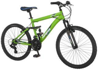 Mongoose 24 Status 2.0 Dual Suspension Mountain Bike   Matte Green