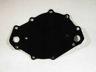 Meziere Water Pump Backing Plate Billet Aluminum Black Ford 429 460