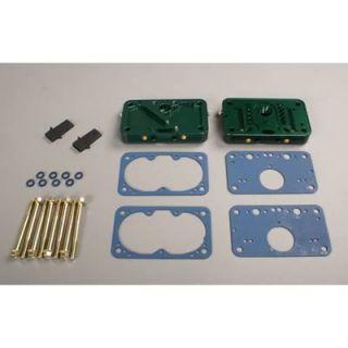 Quick Fuel Metering Block Conversion Billet Aluminum E85 Green Quick