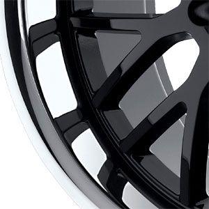 New 20X8.5 5 112 Vengeance Gloss Black W/Stainless Wheel/Rim