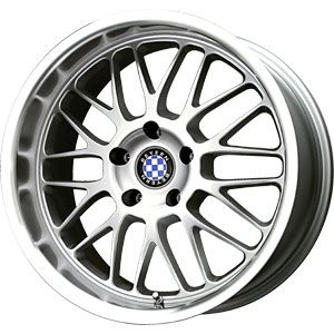 New 17x7 4x100 Beyern Mesh Silver Wheels Rims