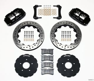 Wilwood Disc Brake Kit Front 97 04 Corvette C 5 Z06 13 Drilled Rotors