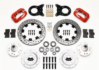 Wilwood Disc Brake Kit Complete 70 73 Mustang Red Drill